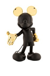 Mickey Welcome Matte Black & Chromed Gold by Leblon Delienne - Limited Edition Sculpture sized 15x24 inches. Available from Whitewall Galleries